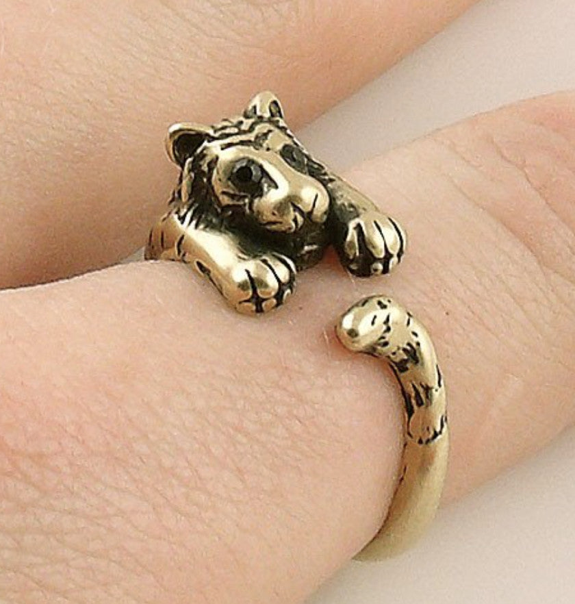 Tiger Wrap Ring Yellow Bronze
