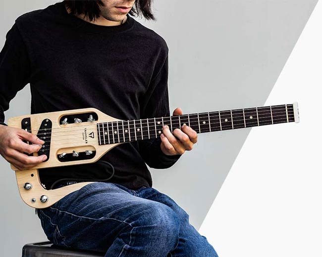 Traveler Guitar Pro-Series hybrid guitars. Full-scale and super compact guitars.