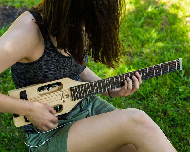 Traveler Guitar UltraLight Series guitars. Full-scale and super compact guitars.