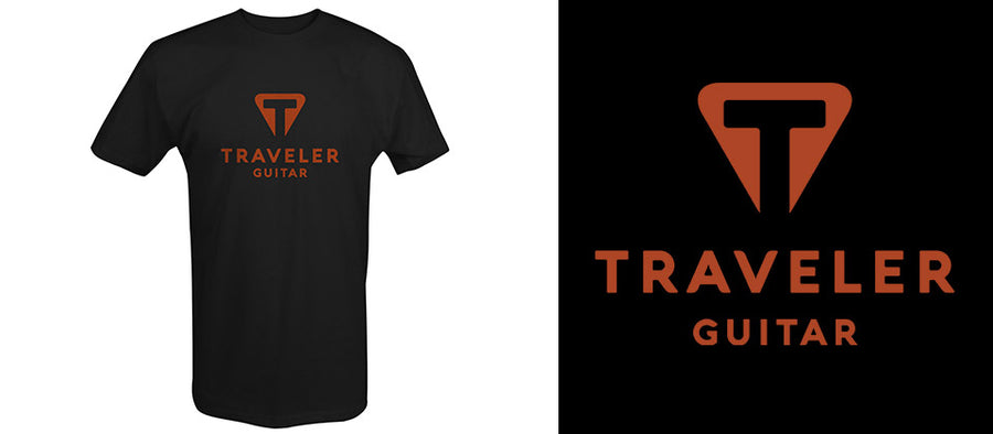 Load image into Gallery viewer, Traveler Guitar Black Logo Shirt
