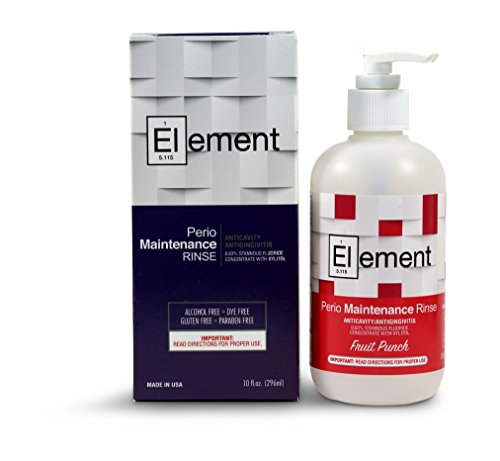 """Element"" 10 Fl. Oz. 0.63% Stannous Fluoride Antimicrobial Perio Rinse Mouthwash Fruit Punch Flavor"