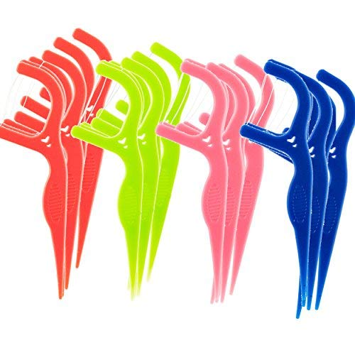 450 Disposable Floss Picks: The World's Most Convenient Floss Picks, Individually Wrapped In 4 Different Colors