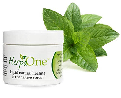 HerpaOne - Rapid Healing for Herpes Sores - All Natural - Lysine and Zinc Formulation- for Herpes Cold Sores Pain Itching Relief by HerpaOne