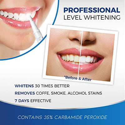 Teeth Whitening Pen [ 3 Pens] Safe 35% Carbamide Peroxide Gel, Effective, Painless, No Sensitivity, Easy to Use, Travel-Friendly, 20+ Uses, Beautiful White Smile, Natural Mint Flavor (Clear)