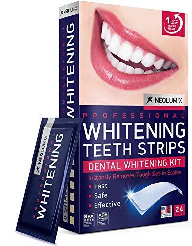 Teeth Whitening Strips - White Teeth in 5 Days - Professional Express 3D Teeth Whitening for Sensitive Teeth and Gums - Formulated in USA - Teeth Whitening Kit 24 Individual Whitestrips