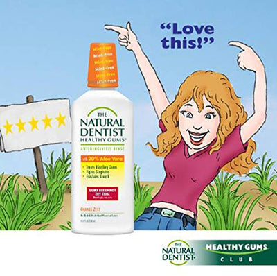 The Natural Dentist Healthy Gums Mouth Wash, Orange Zest, 16.9 Ounce (Pack of 3)