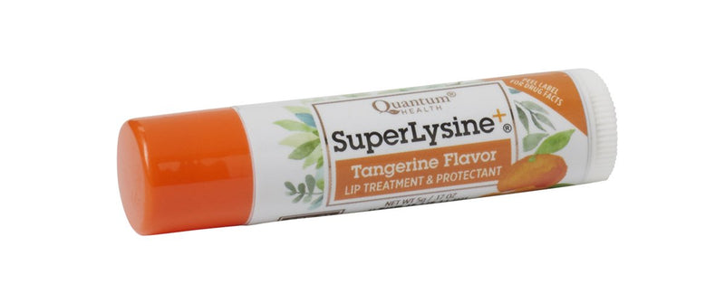 Quantum Health Super Lysine+ ColdStick, Tangerine Flavored - Soothes, Moisturizes, Protects Lips, Herbal Lip Balm, SPF 21, 5 gm