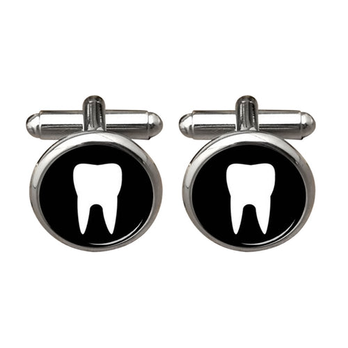 Tooth Cuff links White Teeth Dentist Fathers Dad Birthday Groom Groomsman Wedding Silver tooth cufflinks for men ZUNON
