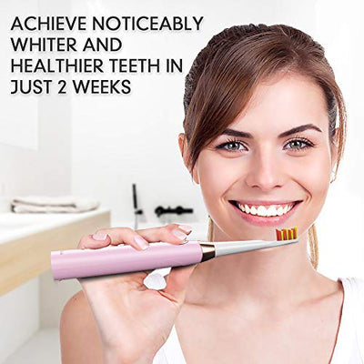 Electric Toothbrush - Dentist Recommended Smart Sonic Toothbrush with 5 Modes, 8 DuPont Brush Heads & Travel Case Included, USB Fast Charging, Pink