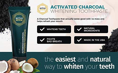 Active Wow Activated Charcoal Teeth Whitening Toothpaste