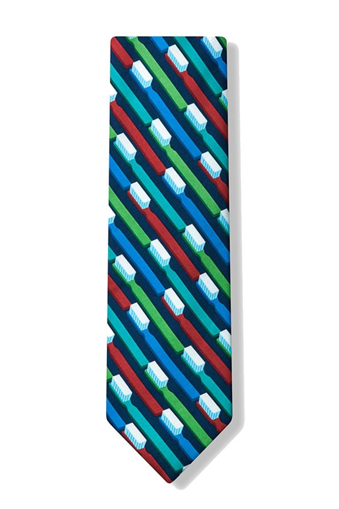Men's Microfiber Dentist Dental Toothbrush Necktie Neck Tie Neckwear