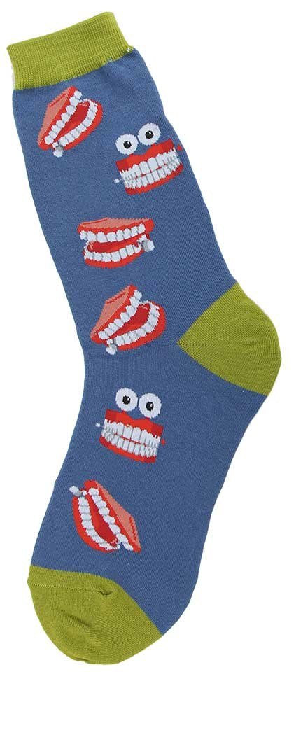 Foot Traffic - Misc Women's Socks, Chatty Teeth