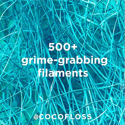 COCOFLOSS Coconut-Oil Infused Woven Dental Floss | Orange | Dentist-Designed | Vegan and Cruelty-Free | 6 month Supply (32 Yds x 3 Units)