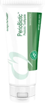 Designs for Health PerioBiotic Toothpaste - Probiotic Toothpaste with Xylitol + Spearmint Oil for Flavor, SLS-Free + Fluoride-Free (4 Ounces)
