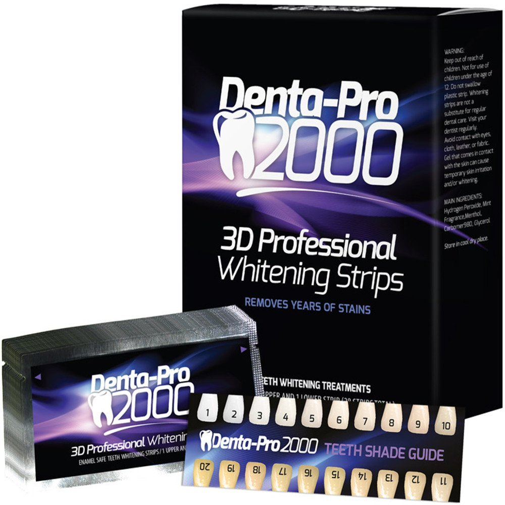 Professional Teeth Whitening Strips - 28 Count - DentaPro2000 - At Home - Begin Seeing Results Instantly!