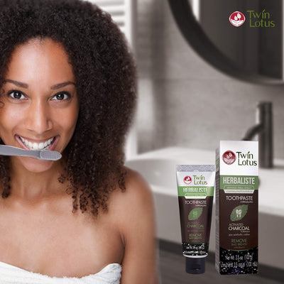 Charcoal Toothpaste, Activated Charcoal Teeth Whitening Toothpaste Free From SLS & Fluoride Black Toothpaste Vegan 100G