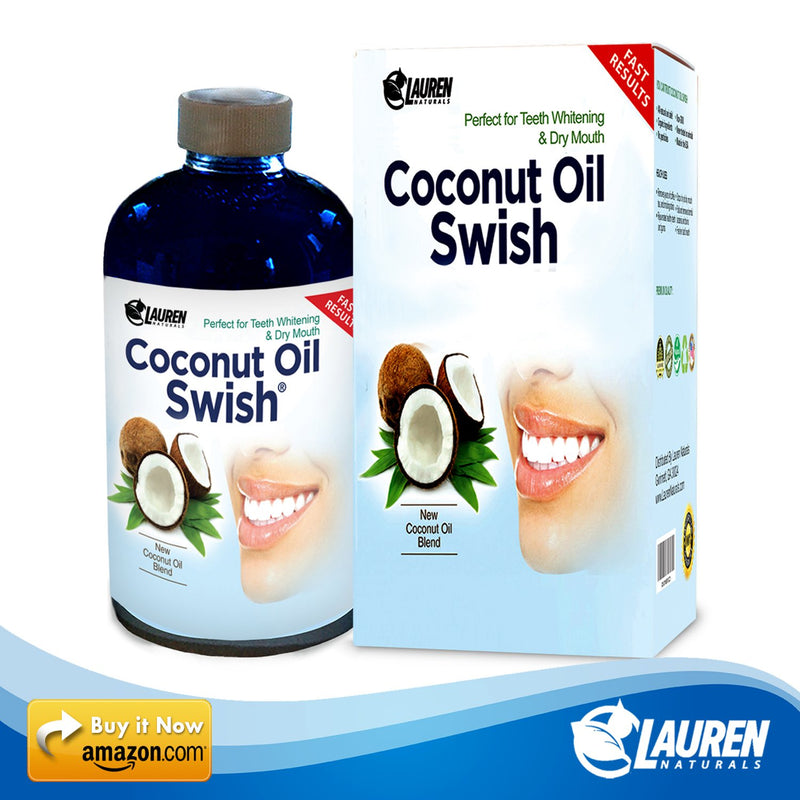 Coconut Oil Pulling Mouthwash: Great Dry Mouth remedy, & Oral Detox - Helps Resolve Bad Breath, Bleeding Gums