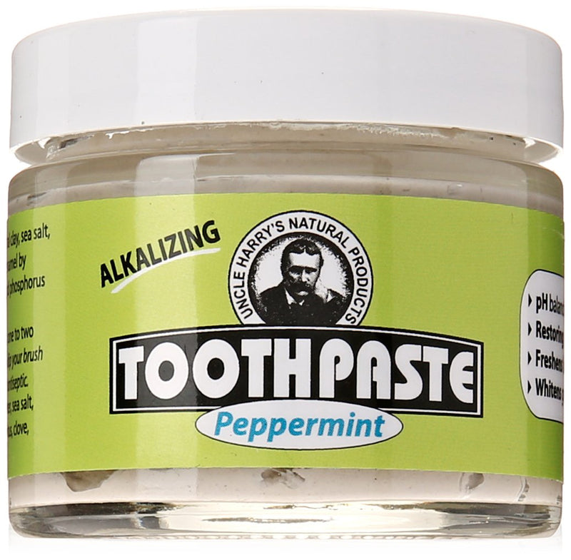 UNCLE HARRY Peppermint Toothpaste, 2 OZ