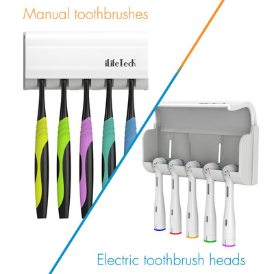iLifeTech Auto Toothpaste Dispenser/Squeezer & Toothbrush Holder Set.