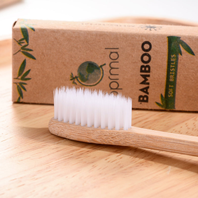 5pcs Sprmal Bamboo Toothbrushes Natural Organic Biodegradable and Vegan Bamboo Soft BPA Free Nylon Bristles For Sensitive Gums