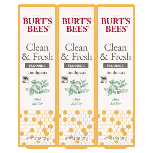 Burt's Bees Toothpaste, Natural Mint Medley Flavor With Fluoride