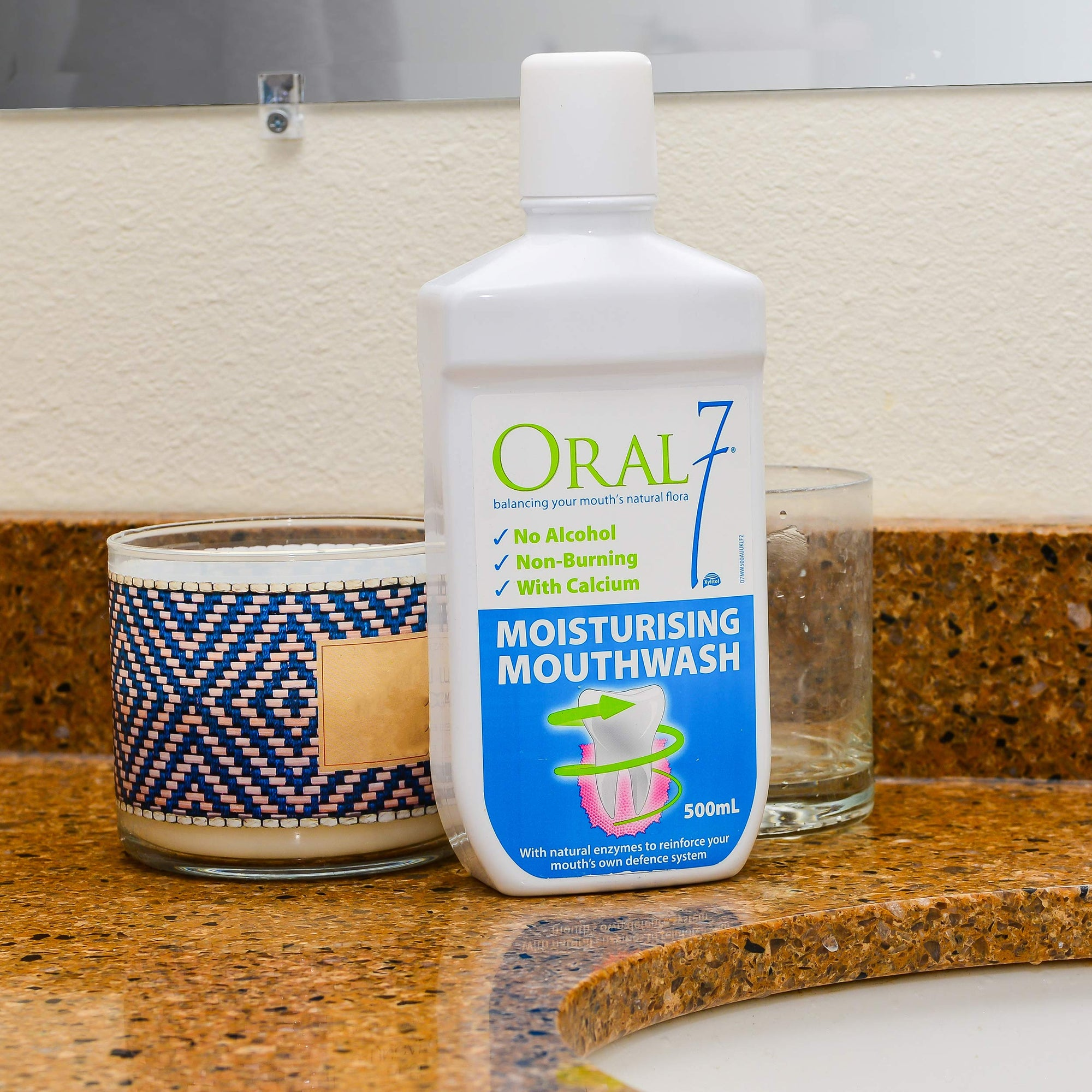 Oral7 Dry Mouth Mouthwash - Alcohol-Free Oral Rinse with Xylitol 17 oz