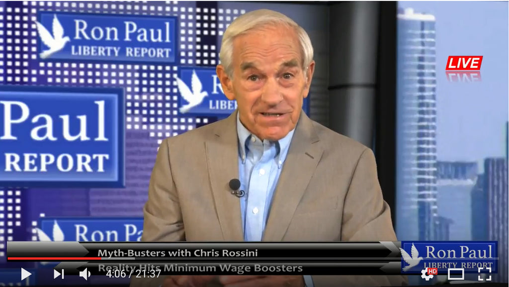 Ron Paul talks about the minimum wage hurting Americans