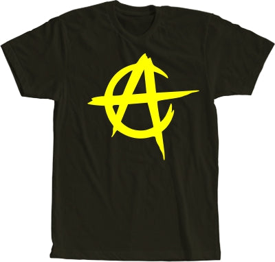 Anarcho Capitalism Ladies Short Sleeve Black T-shirt