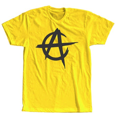 Anarcho Capitalism Ladies Short Sleeve Yellow T-shirt