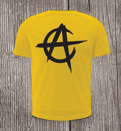 Anarchy Capitalism Short Sleeve Yellow T-shirt