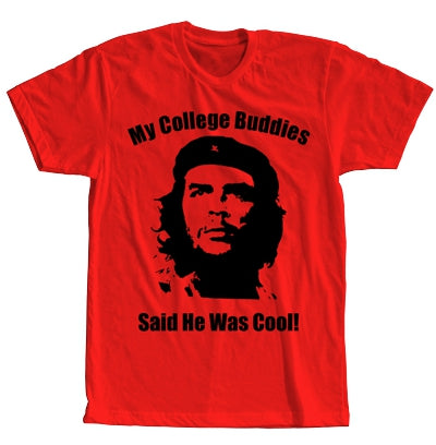 Che Guevera Is Cool Short Sleeve Red T-shirt