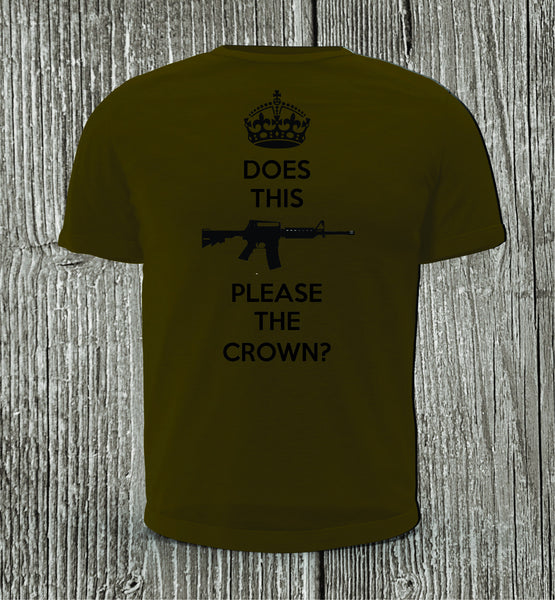 Does This Please The Crown Short Sleeve Military Green Shirt