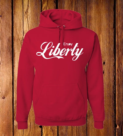 Enjoy Liberty Red Hoodie