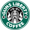 Guns Liberty & Coffee Sticker