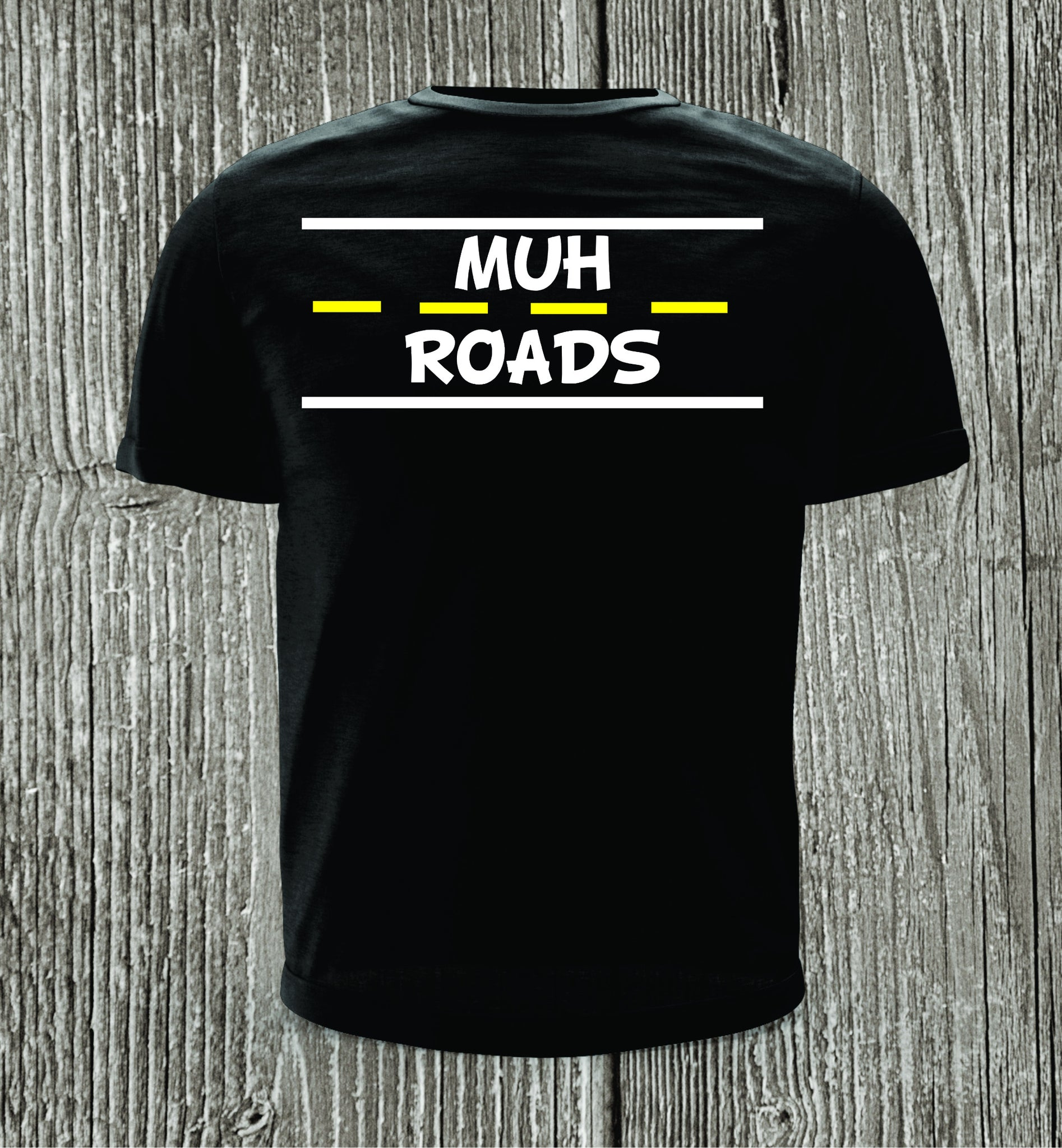 Muh Roads with White Print Short Sleeve Shirt