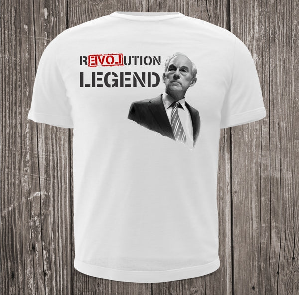 Ron Paul Revolution Legend Short Sleeve White T-shirt