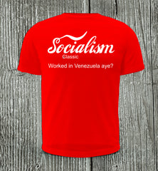 Enjoy Socialism Short Sleeve Red T-shirt