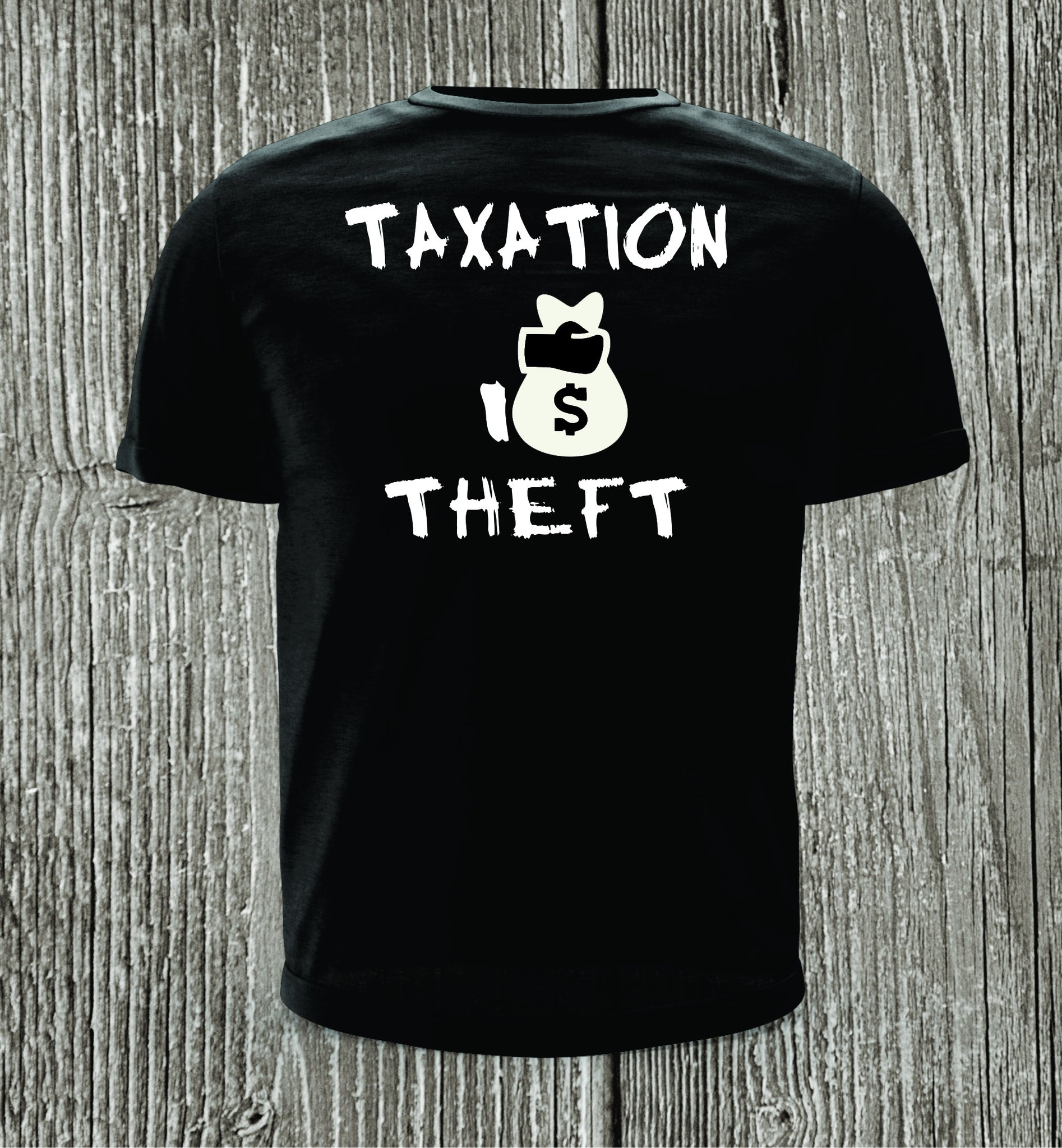 Taxation Is Theft Short Sleeve Black Shirt