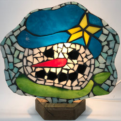 Christmas Mosaic Fan Lamp