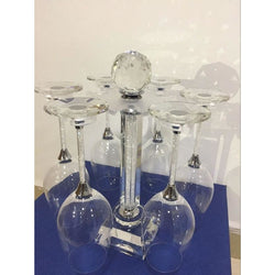 Rotatable Crystal Wine Glass Stand