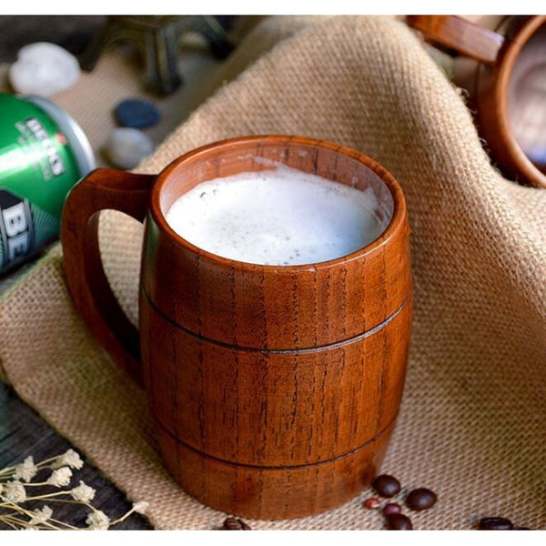 Natural Wood Beer Mug