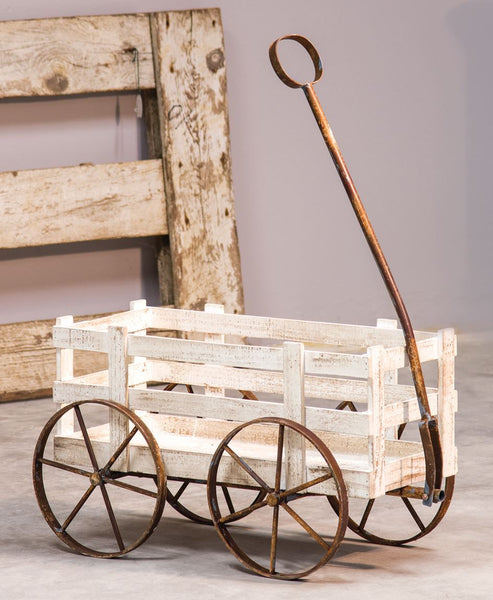 Country Rustic White Wagon