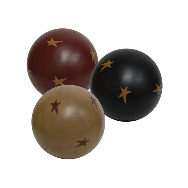 "Decorative Star 4"" Ball Set, Bowl/Vase Filler"