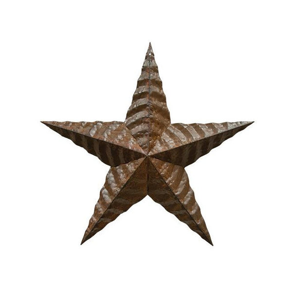"24"" Rusty Corrugated Barn Star"
