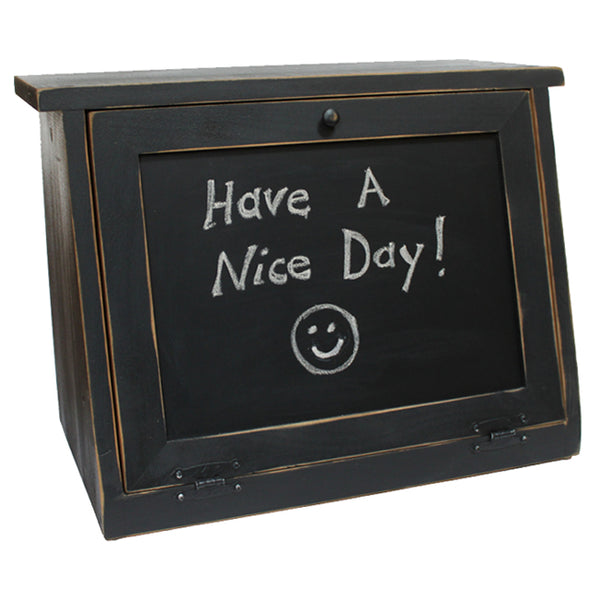 Chalkboard - Message Board - Blackboard Panel Wood Bread Box