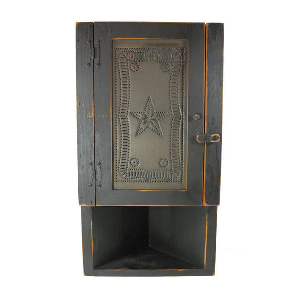 Punched Tin Corner Cabinet
