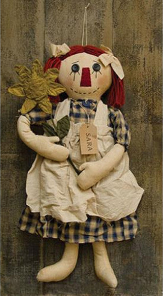 Primitive Sara with Flower Doll