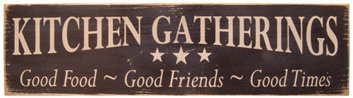 Kitchen Gatherings sign