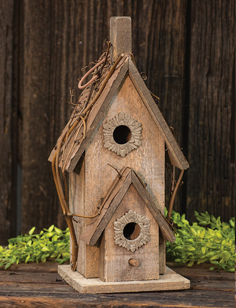 Rustic country Birdhouse with Tin roof