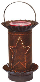 Rusty Star Punched-Tin Mini Melt/Tart Warmer